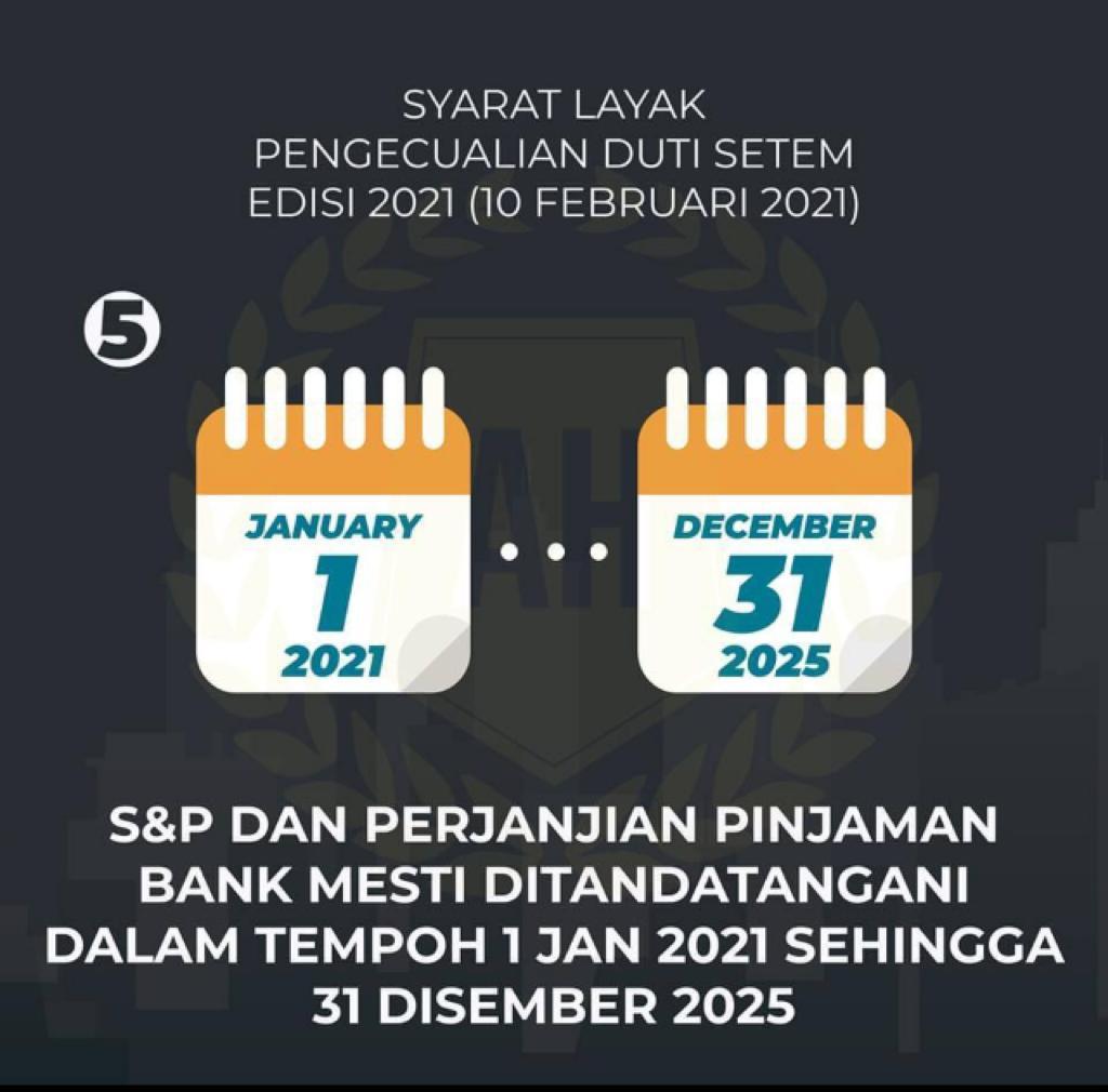 pengecualian setem duti 2021